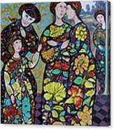Stain Glass Women Canvas Print