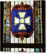 Stained Glass 3 Panel Vertical Composite 01 Canvas Print