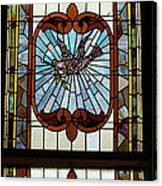 Stained Glass 3 Panel Vertical Composite 05 Canvas Print