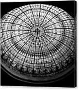 Stained Glass Dome - Bw Canvas Print