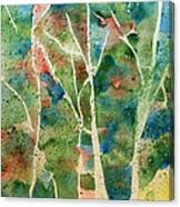 Stained Glass Forest In Spring Canvas Print