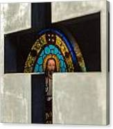 Stained Glass In A Tomb Canvas Print