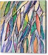 Stained Glass Leaves #2 Canvas Print