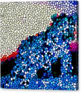 Stained Glass Leopard 1 Canvas Print
