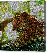 Stained Glass Leopard 2 Canvas Print