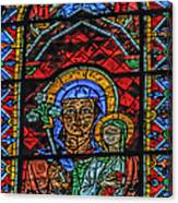 Stained Glass Of Chartres Canvas Print
