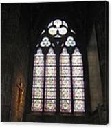 Stained Glass Of The Notre Dame Canvas Print