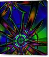 Stained Glass Passion Flowers Canvas Print