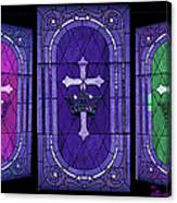 Stained Glass - Purple Canvas Print