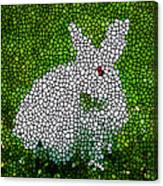 Stained Glass Rabbit Canvas Print