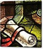 Stained Glass Scroll Canvas Print