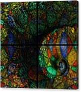 Stained Glass Spiral Canvas Print