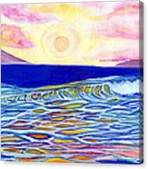 Stained Glass Sunset Canvas Print