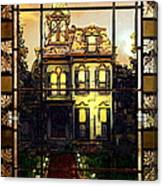 Stained Glass Template Victorian Twilight Canvas Print