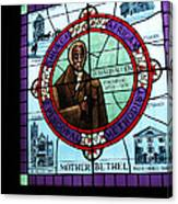 Stained Glass Window In Mother Bethal Church            Canvas Print
