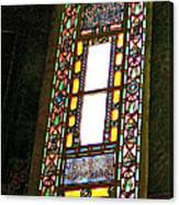 Stained Glass Window In Saint Sophia's In Istanbul-turkey  Canvas Print