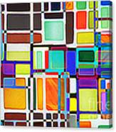 Stained Glass Window Multi-colored Abstract Canvas Print