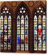 Stained Glass Windows At Saint Josephs Cathedral Buffalo New York Canvas Print