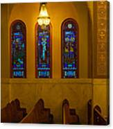 Stained Glass Windows At St Sophia Canvas Print