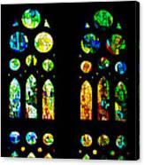 Stained Glass Windows - Sagrada Familia Barcelona Spain Canvas Print