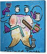 Stained Tooth Canvas Print