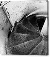 Stairs Leading Downward Into The Catacombs Of Paris France Canvas Print