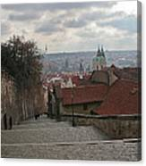 Stairs To Prague Canvas Print