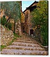 Stairs To The Village Canvas Print