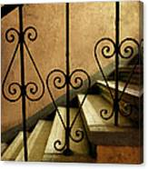 Stairs With Ornamented Handrail Canvas Print