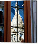 Stairway Dome Reflection Canvas Print