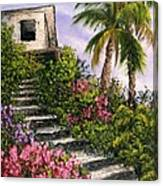 Stairway Garden Canvas Print