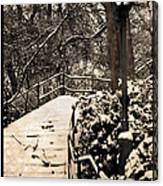 Stairway In Central Park On A Stormy Day Canvas Print