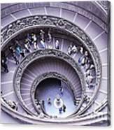 Stairway In Vatican Museum Canvas Print