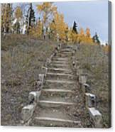 Stairway To Autumn Canvas Print