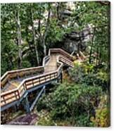 Stairway To Chimney Rock Canvas Print