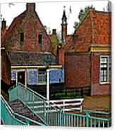 Stairway To Enkhuizen From The Dike-netherlands Canvas Print