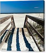 Stairway To Happiness And Possibilities Canvas Print