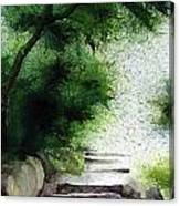 Stairway To Heaven... At Nandi Hills Canvas Print