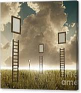 Stairway To Sky Canvas Print