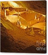 Stalactites And Stalagmites In Cave Ibiza Canvas Print