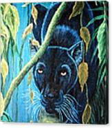 Stalking Black Panther Canvas Print