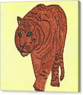 Stalking Tiger Canvas Print