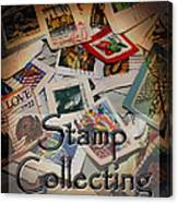 Stamp Colleting Canvas Print