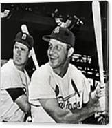 Stan Musial And Ted Williams Canvas Print