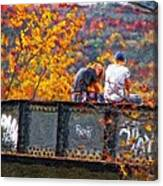 Stand By Me Impasto Canvas Print