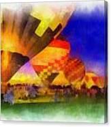 Standbye To Launch Hot Air Balloons Photo Art Canvas Print