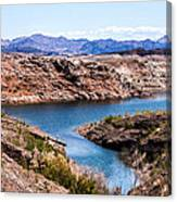 Standing In A Ravine At Lake Mead Canvas Print