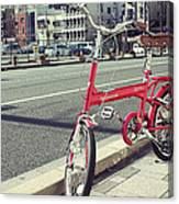 Standing Red Bike Canvas Print