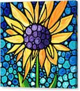 Standing Tall - Sunflower Art By Sharon Cummings Canvas Print