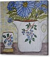Stangl Blueberry Pottery Canvas Print